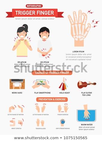 Számítógép kioldó ujj közelkép kéz középkorú felnőtt Stock fotó © eldadcarin