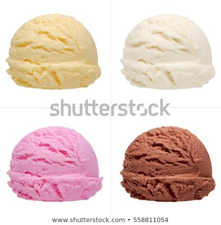 fagylalt · étel · nyár · eper · szín · desszert - stock fotó © Kesu