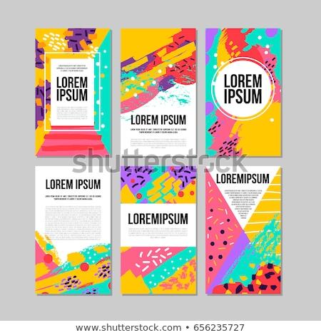 Résumé coloré design fête art imprimer Photo stock © rioillustrator