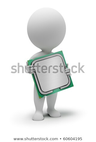 Stock photo: 3d small people - processor