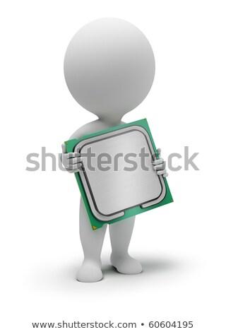 3D faible personnes processeur mains image Photo stock © AnatolyM