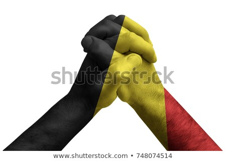 fist painted in colors of belgium flag stock photo © vepar5