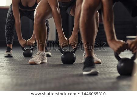 crossfit · man · training · oefening - stockfoto © dacasdo