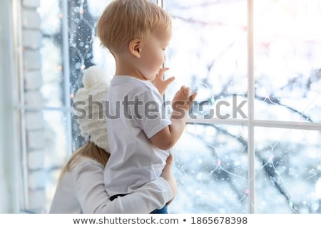 Children staying in the snow Stock photo © emese73