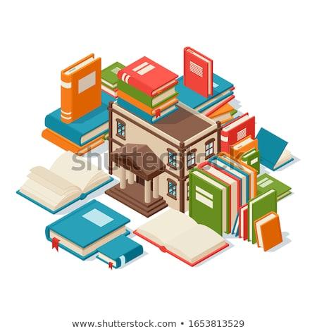 biblioteca · símbolo · livros · casa · paredes - foto stock © snyfer