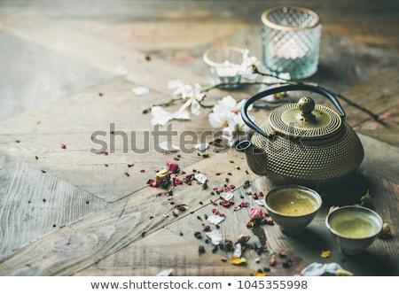 japán · tea · szett · csészék · hagyományos · bogrács - stock fotó © rohitseth