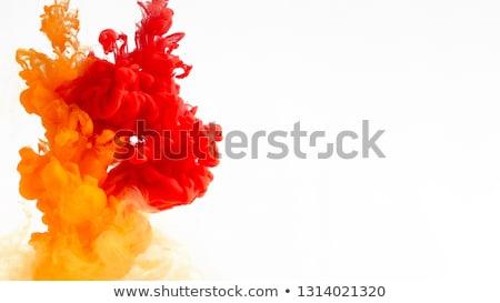 Orange ink splashes Stock photo © Zerbor