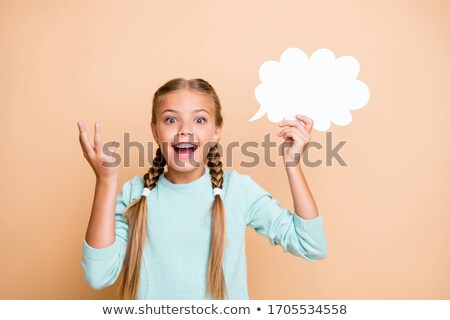 Smart young kid isolated on white background Stock photo © get4net
