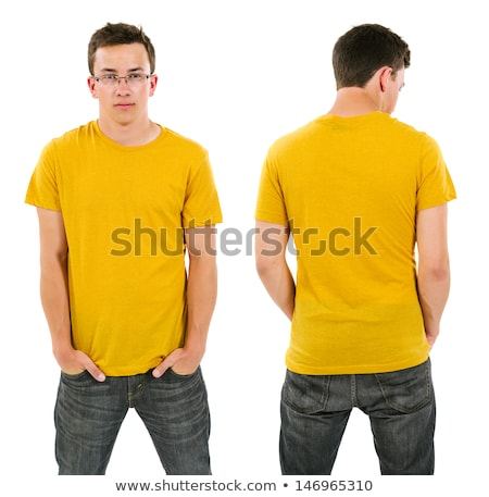 Male with blank yellow shirt and glasses Stock photo © sumners