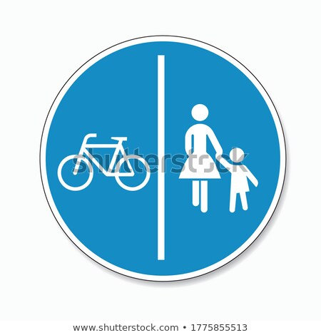 Traffic sign footpath Stock photo © Ustofre9