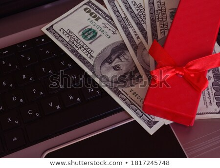 laptop with russian money in wallet stock photo © mikko