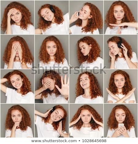Ekspresyjny portret piękna młodych kobieta Zdjęcia stock © lithian