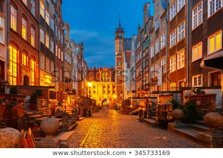 old marys street gdansk poland stock photo © neirfy