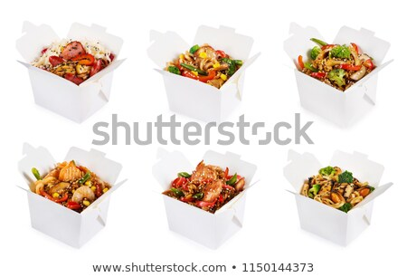 Chinese  container  with  meat Stock photo © taden