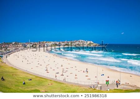 Foto stock: Praia · Sydney · Austrália · ver · cidade · edifícios