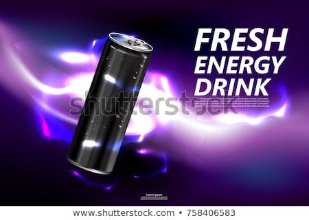 Energiaital konzerv kávé bab kávé por Stock fotó © SecretSilent