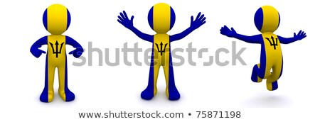 3d character textured with flag of Barbados Stock photo © Kirill_M