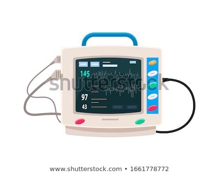 Szívdobbanás monitor sztetoszkóp vágási körvonal egészség kórház Stock fotó © idesign