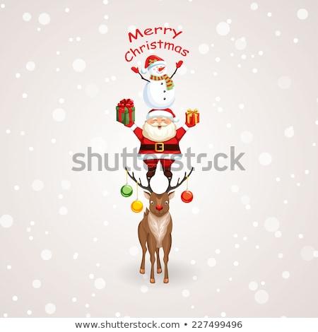 Fanny cartoon deer Stock photo © liolle