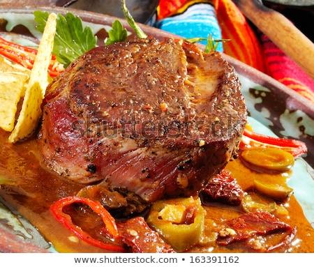 Beefsteak Mexicana Stock photo © hanusst