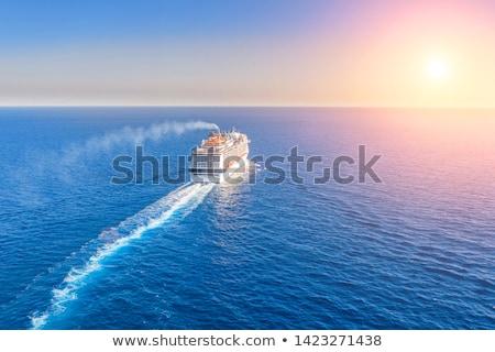 Passenger ship leaving the harbor Stock photo © richardjary