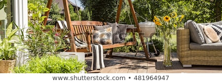 wooden veranda in nature Stock photo © taviphoto