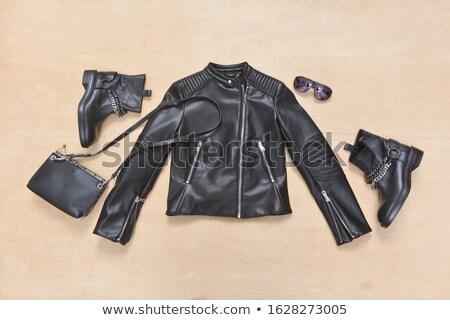 Seis mulher negra botas sensual limpar cair Foto stock © Suljo