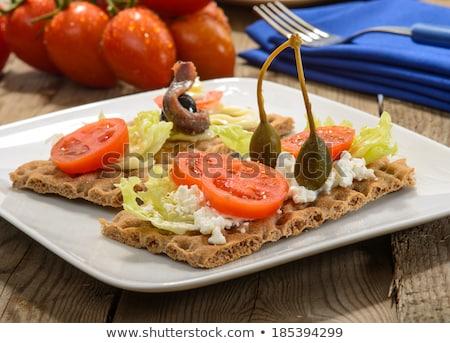 диетический сэндвич здорового завтрак рыбы хлеб Сток-фото © Marfot