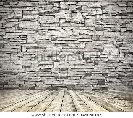 Oude muur metselwerk hout abstract achtergrond Stockfoto © PavelKozlovsky