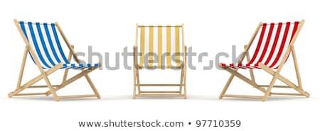 Deck sedie vuota blu nave da crociera mare Foto d'archivio © chrisbradshaw