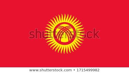 флаг · Киргизия · флагшток · 3d · визуализации · изолированный · белый - Сток-фото © harlekino