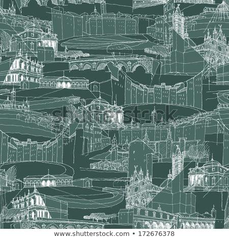 Historic Italian Architecture Collage Seamless Pattern Stock photo © VOOK