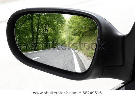 espejo · velocidad · coche · conducción · vacío - foto stock © vladacanon