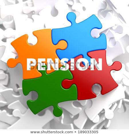 pensão · plano · vermelho · branco · dinheiro - foto stock © tashatuvango