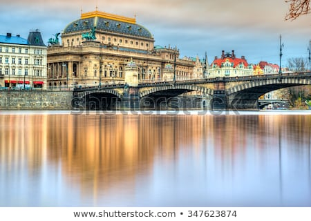 tiyatro · Prag · Çek · Cumhuriyeti · Bina · şehir · tekne - stok fotoğraf © hanusst