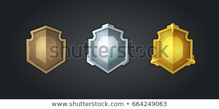 Schild veiligheid iconen ui spel illustratie Stockfoto © benchart