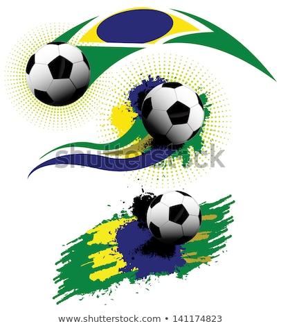 kumaş · doku · bayrak · Brezilya · mavi · yay - stok fotoğraf © m_pavlov