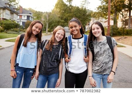 pre teen girl in school stock photo © monkey_business