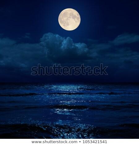 Lua oceano estoque imagem céu natureza Foto stock © rudall30