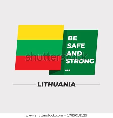 Bandeira Lituânia idéia projeto textura Foto stock © kiddaikiddee