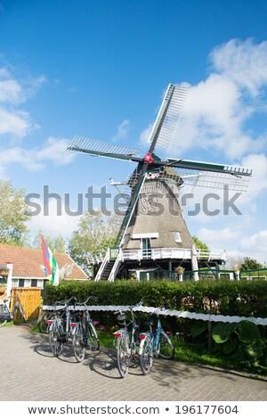 holandés · pueblo · molino · de · viento · granja · casas · paisaje - foto stock © ivonnewierink