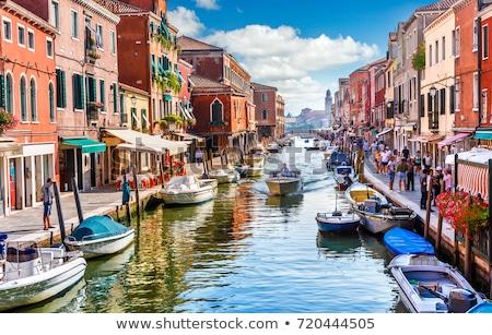 Venedik İtalya köprü tekne kanal Bina Stok fotoğraf © FER737NG