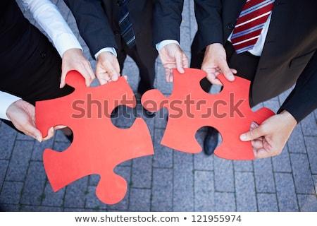 Knowledge on Red Puzzle. Stock photo © tashatuvango