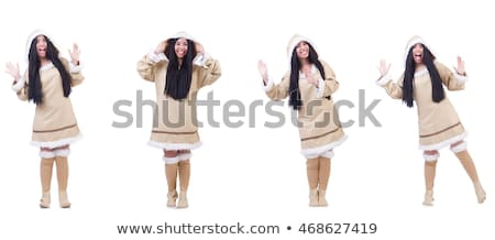 Woman eskimo isolated on white Stock photo © Elnur