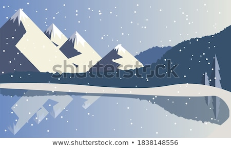 Berg reservoir winter landschap Colorado snelweg Stockfoto © PixelsAway