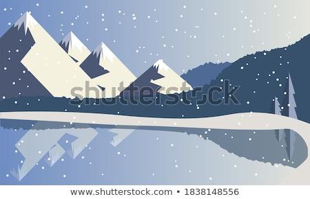reservoir · kristal · meer · bos · heuvels · Californië - stockfoto © pixelsaway