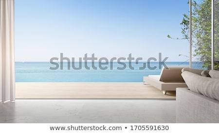 mar · ver · cênico · praia · água · madeira - foto stock © thanarat27