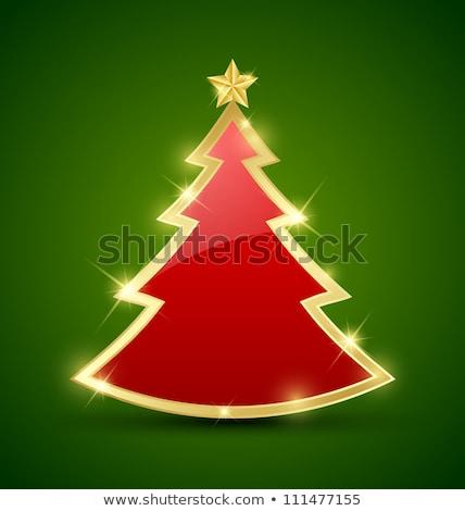 Christmas proste karty choinka geometryczny Zdjęcia stock © marimorena