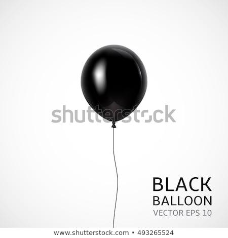 Nero palloncini isolato bianco pallone celebrazione Foto d'archivio © gemenacom