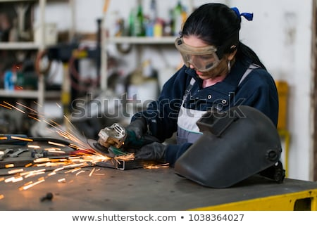 Negócio mulheres trabalho duro mulher de negócios primeiro plano homem Foto stock © Giulio_Fornasar